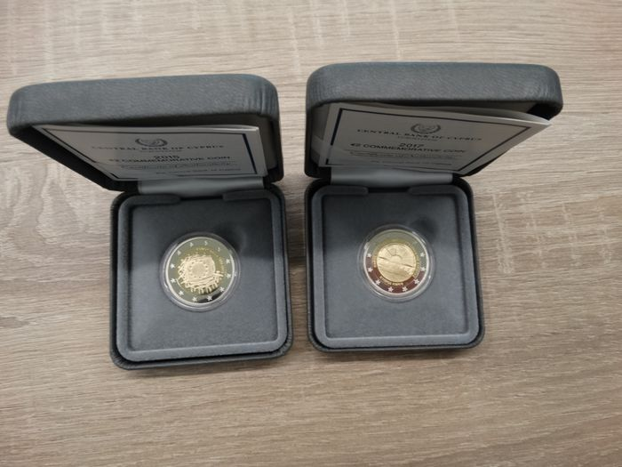 Chypre. 2 Euro 2015/2017 Proof  (2 coins)
