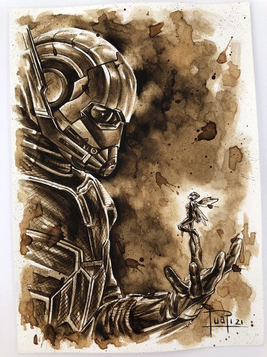 Original Coffee Painting - ANT MAN & THE WASP (2021)
