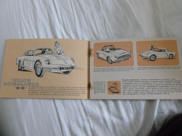 Brochures/catalogi - French 24 page Willys Interlagos ( Alpine Brasil ) and other models catalog - Alpine, Ford, Jeep, Renault, Willys