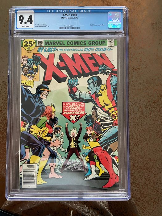 X-Men 100 - X-Men AT LAST ... The spectacular 100th Issue! CGC 9.4 Old X-Men vs New X-men - Softcover - First edition - (1976)