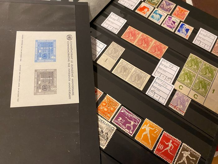 World 1930 - Imperforate UN block + The Netherlands series and stamps