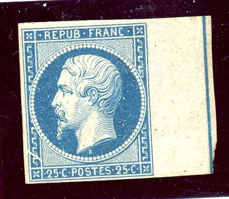 Frankreich 1872 - Napoleon, presidency No. 10, proof with fillet frame.