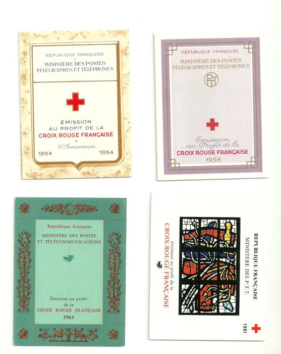Francia 1954/1981 - Red Cross booklets - Yvert