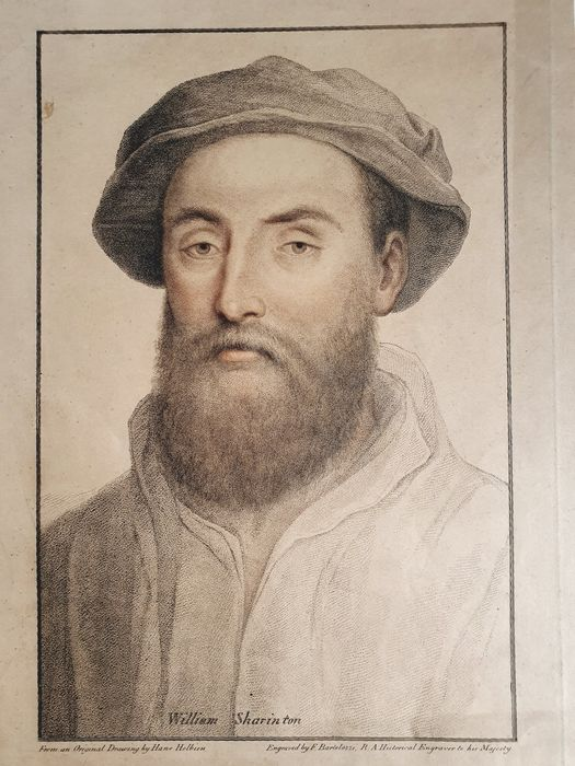 Hans Holbein the Younger (1497/8-1543), after, by Francesco Bartolozzi (1728-1815) - William Sharinton