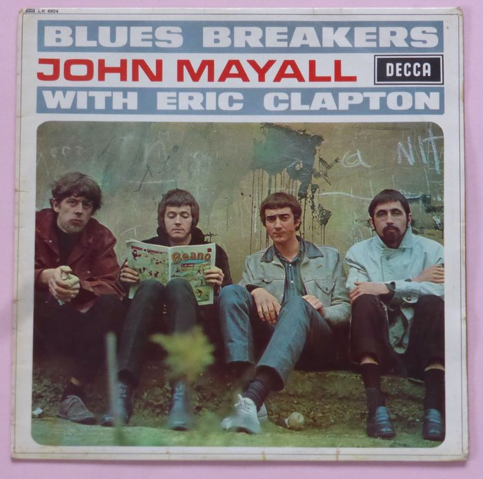John Mayall with Eric Clapton - Blues Breakers John Mayall with Eric Clapton (first press UK mono, Decca ffrr Red Ear labels) - LP Album - 1966/1966