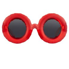 Jeremy Scott - Round Frosted Red and Grey - Gafas de sol
