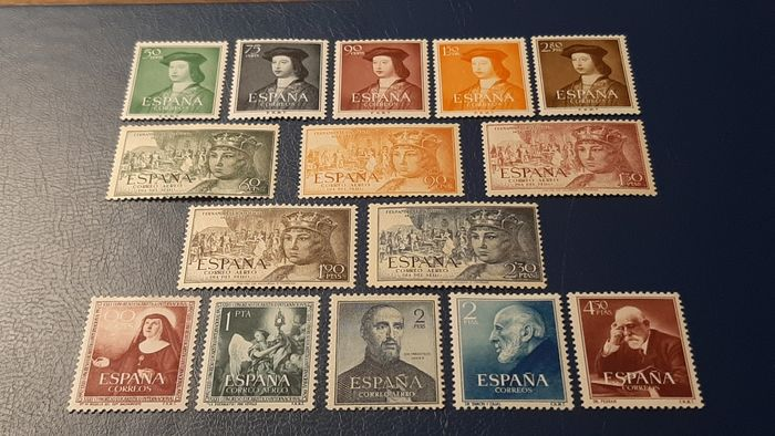 Spagna 1952 - Complete year. Five complete sets - Edifil 1106/1120