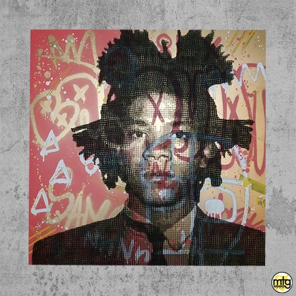 AIIROH x COLLELL - Basquiat (Exceptional barbed wires wall sculpture)