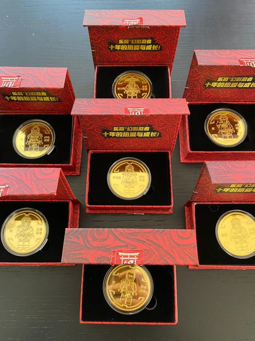 LEGO - Ninjago 10th anniversary coins probably the rarest LEGO coins to ever exist - νομίσματα - 2000-σήμερα - Ασία