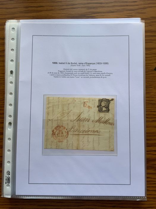 Spanien 1850/1899 - Classic period collection with varieties