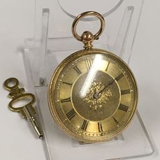 Hallet of Hastings - 18k Solid gold pocket watch - NO RESERVE PRICE - Kobieta - 1850-1900