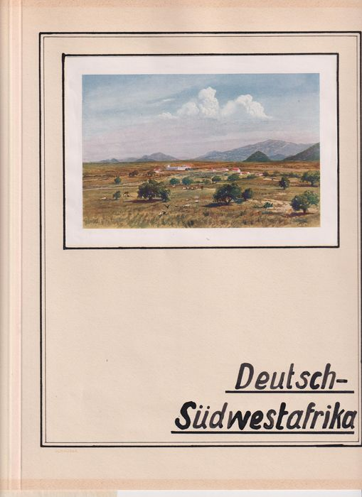 Afrique allemande du Sud-Ouest (DSWA) 1897/1916 - Collection on Kabe sheets with letters, postcards