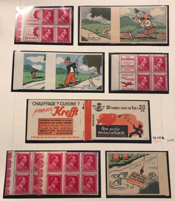 Belgium 1941 - Stamp booklet Peche Miraculeuse Complete & in Very Good Condition - OBP / COB A35a