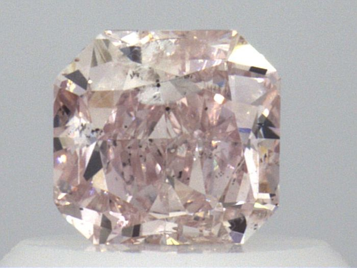 1 pcs Diamante - 0.43 ct - Radiante - Natural Fancy Light Pink - GIA Certified * No Reserve Price *