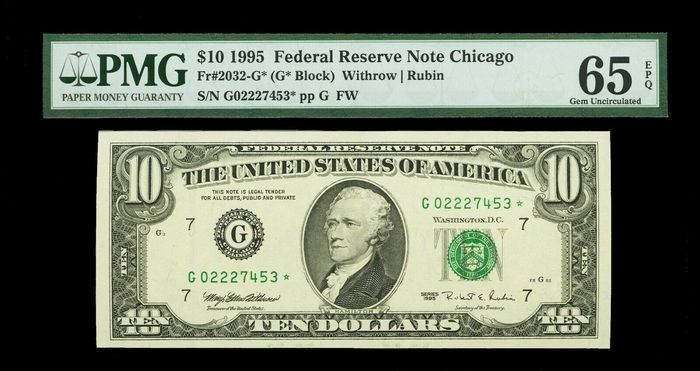 United States of America - 10 Dollars Federal Reserve Note St. Louis 1995