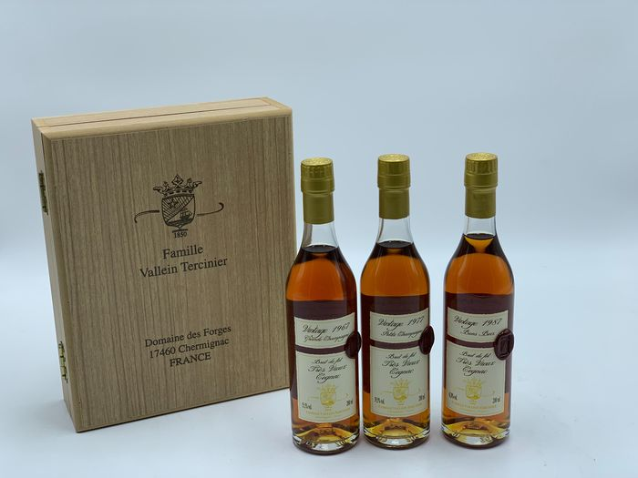 Vallein Tercinier Selected for LMDW: 1967 Grande Champagne, 1977 Petite Champagne & 1987 Bon Bois - b. 2017 - 20 cl - 3 sticle