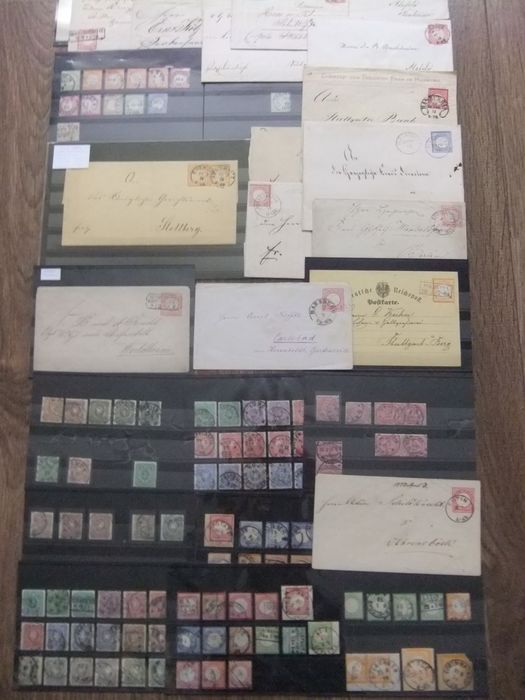 German Empire 1872/1880 - Lot on stock cards