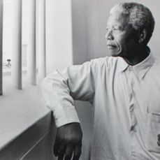 Jürgen Schadeberg (1931-2020) - Nelson Mandela in his cell on Robben Island 1994