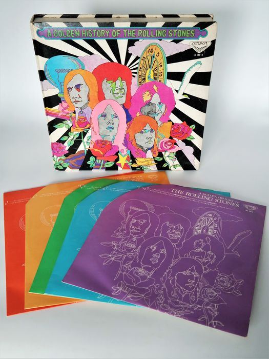 Rolling Stones - A Golden History Of The Rolling Stones / Only For The Jpn.Market  Psychedelic Box with 5 Lp´s - Limited box set - 1971/1971