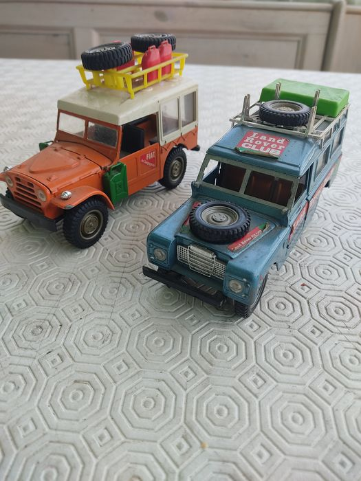 Mebetoys and Barlux - 1:28 - Land rover club 8580 and fiat campagnola 73050