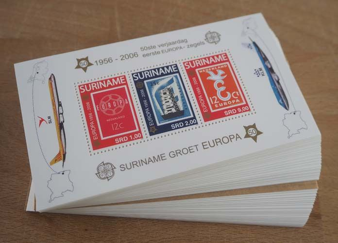 Suriname 2006 - 200 miniature sheets 50th Anniversary of the first Europa stamps - Michel Block 100