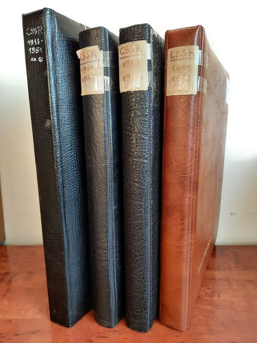 Cecoslovacchia 1918/1980 - Large inventory in sequence in a stock book + three consecutive ring bindings