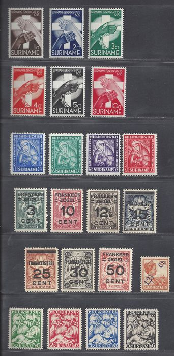 Suriname 1926/1935 - Various issues - NVPH 115, 130/136, 137/140, 141/144, 151/156