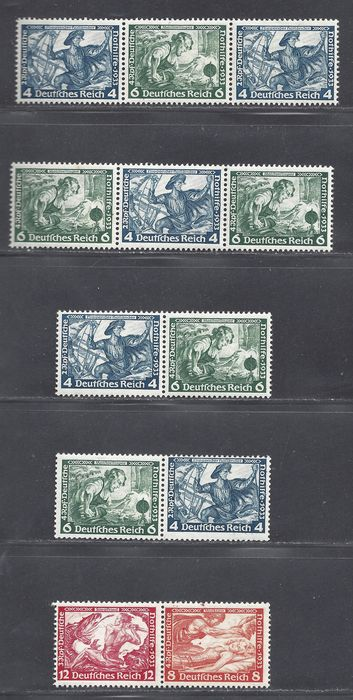 Impero tedesco 1933 - Various Wagner combinations - Michel W47, W48, W49. W50, W55