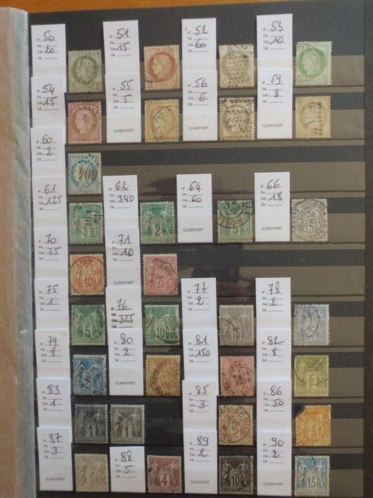 Francia 1872/1900 - Lot of Ceres and Sage stamps - Yvert