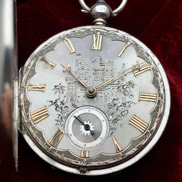 Early Fusee pocket watch - silver dial - Uomo - 1847