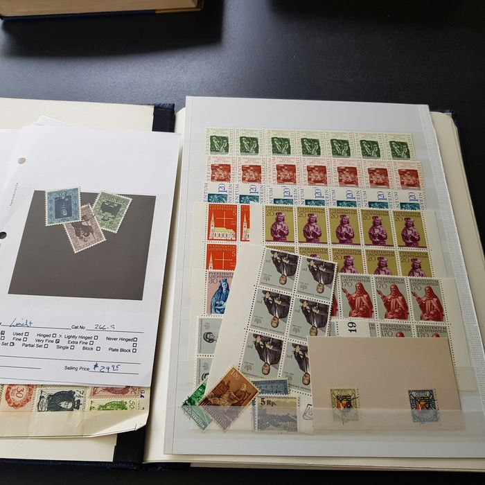 Liechtenstein 1917/1995 - Collection in an album, stamps and letters