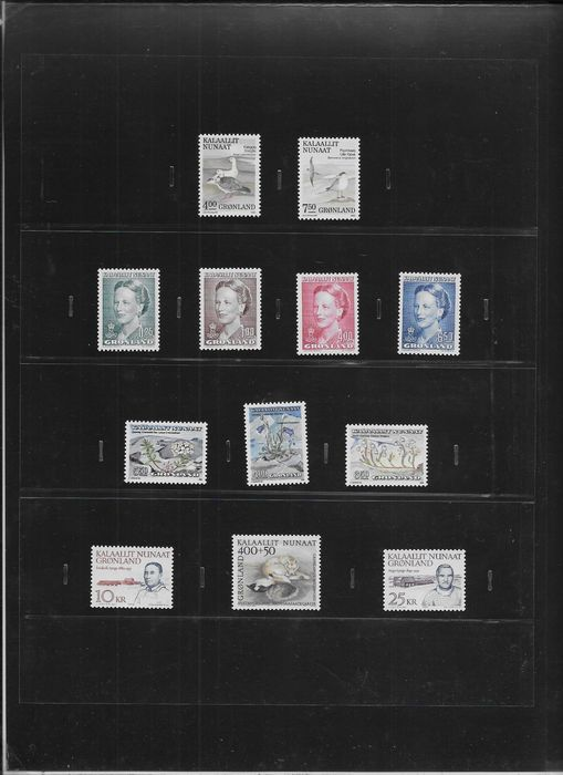 Groenland 1990/1996 - 7 complete years of stamps. - AFA 199/301
