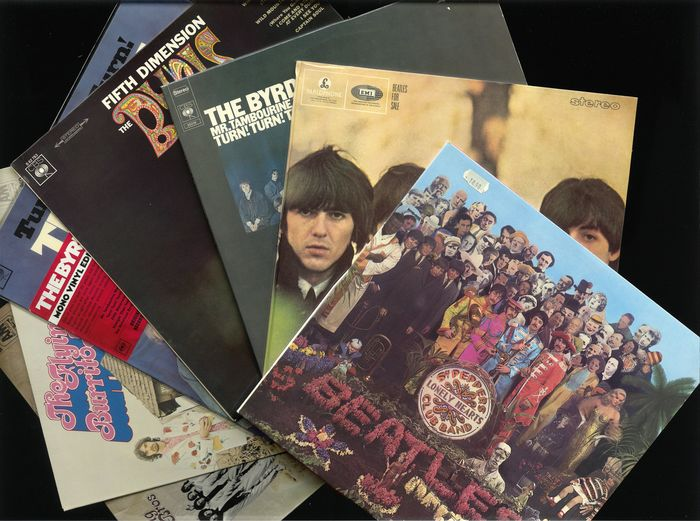 Byrds, Flying Burrito Bros., Beatles - Diverse artiesten - Beatles, Byrds and Burritos - Lot of 7 classic sixties and 1970s albums - Diverse titels - LP Album - 1966/2006