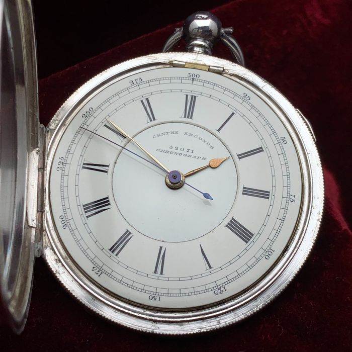 Decimal Chronograph - Doctors central seconds chronograph pocket watch - Fusee movement - Heren - 1875