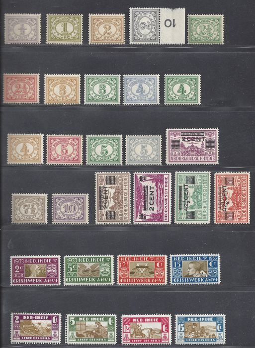 Dutch East Indies 1920/1938 - Various complete issues - NVPH 99/114, 176/179, 182/185, 211/215