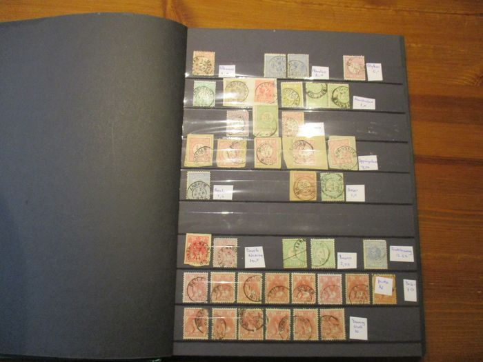 Paesi Bassi - Collection of small round cancellations in a stock book