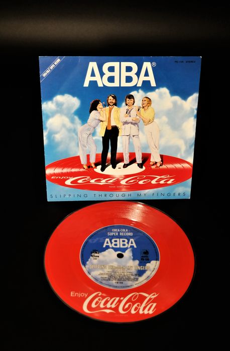 """ABBA - Slipping Through My Fingers (Coca Cola Promo-Single ) Worldwide Out Of Print - 7"""" EP, Picture disk - 1981/1981"""
