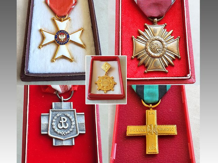 Poland - Original orders and crosses of the People's Republic of Poland
