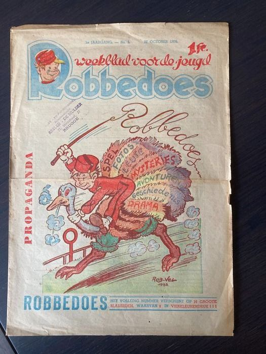 Robbedoes (magazine) - Robbedoes aankondigingsnummer - Loose page - First edition - (1938)