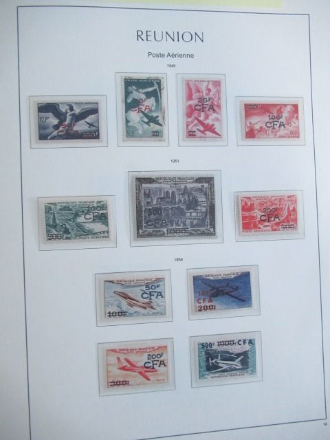 Franse kolonie - La Reunion and Saarland, advanced collection of stamps