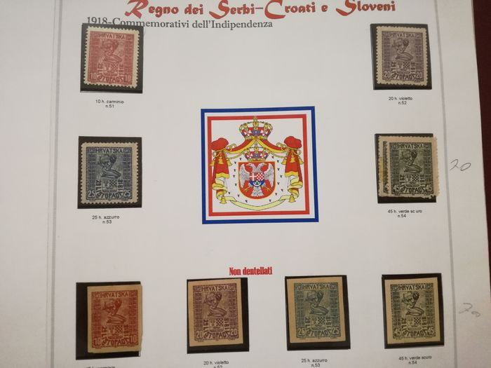 Jugoslawien - Yugoslavia, Kingdom of Serbs, Croats and Slovenes, SHS, collection with variety, never seen before
