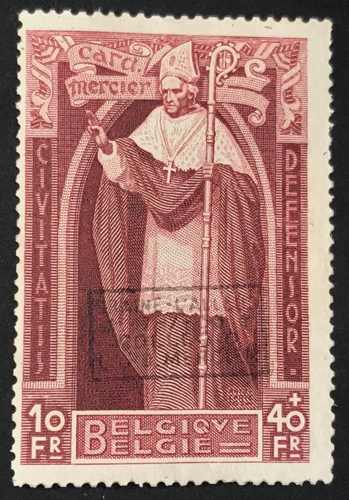 Belgium 1932/1932 - Cardinal Mercier with overprint 'Braine L'Alleud' - MNH with inspections by, amongst others, Richter - OBP 374K