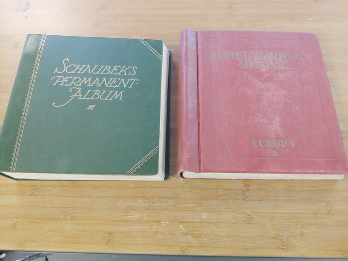 Europa - Classics in a pre-1920 collection of European countries in two albums