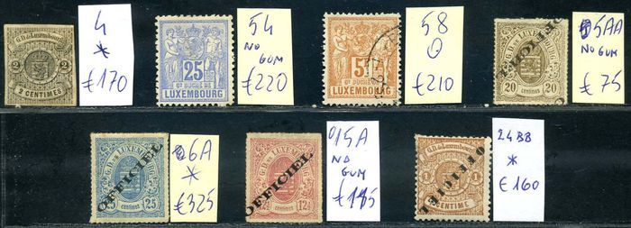 Luxemburg - 7 classic stamps