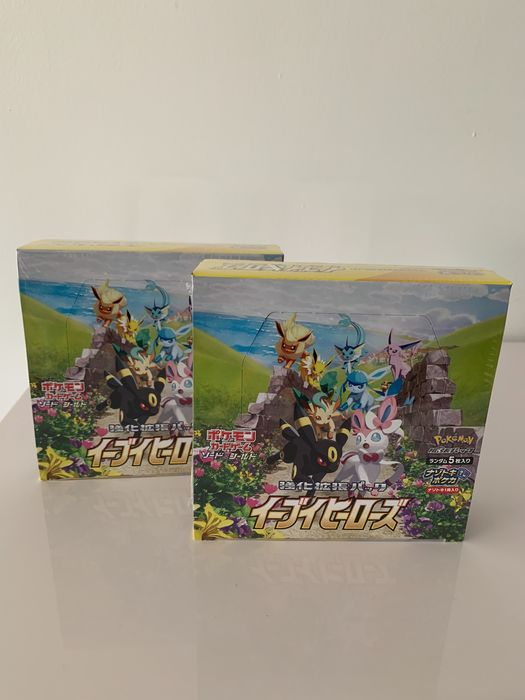Pokémon - 2 x Eevee Heroes S6a sealed/mint - Booster Box Card Japanse - 2021