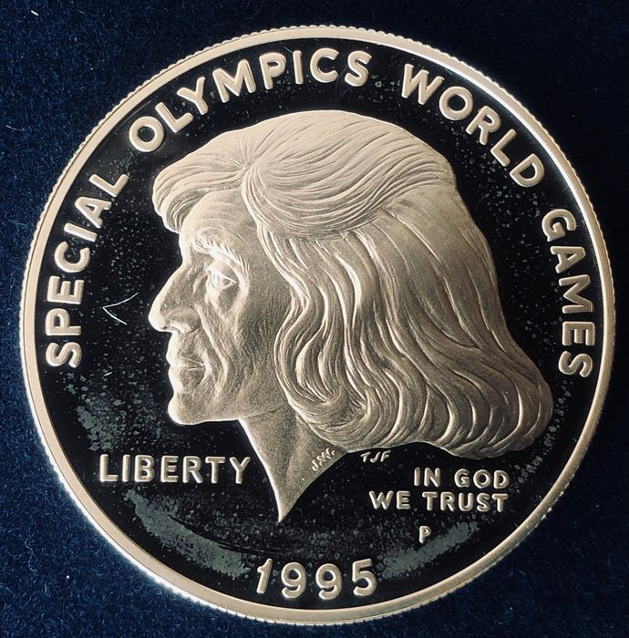 United States. 1 Dollar 1995 P, proof. Special Olympic World Games