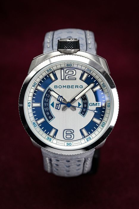"""Bomberg - OLT-68 GMT GREY + Medallion and Chain Leather Strap - BS45GMTSS.002.3 """" NO RESERVE PRICE"""" - Herren - 2011-heute"""