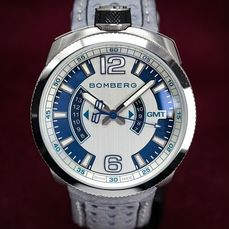 """Bomberg - OLT-68 GMT GREY + Medallion and Chain Leather Strap - BS45GMTSS.002.3 """" NO RESERVE PRICE"""" - Heren - 2011-heden"""