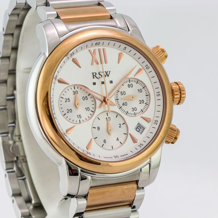 """RSW - Swiss made Chronograph - RSWC126-SR-1 """"NO RESERVE PRICE"""" - Heren - 2011-heden"""
