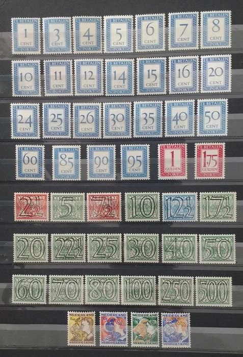 Pays-Bas 1932/1957 - Children's aid stamps, Guilloche and Postage due - NVPH 248/251, 356/373, P80/P106
